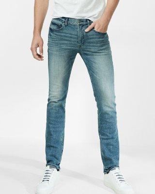 slim fit jeans slim medium wash 4 way stretch jeans | express ljcsvey