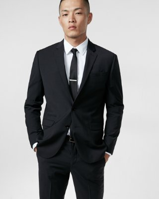 slim fit suit express view · slim black wool-blend performance stretch suit jacket tbkwvrg