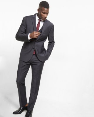 slim fit suit express view · slim charcoal gray performance stretch wool-blend suit jacket ylyocow