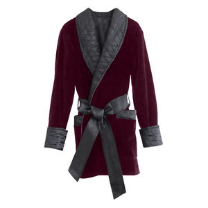 smoking jacket image is loading smoking-jacket-velvet-mens-merlot rywevvf