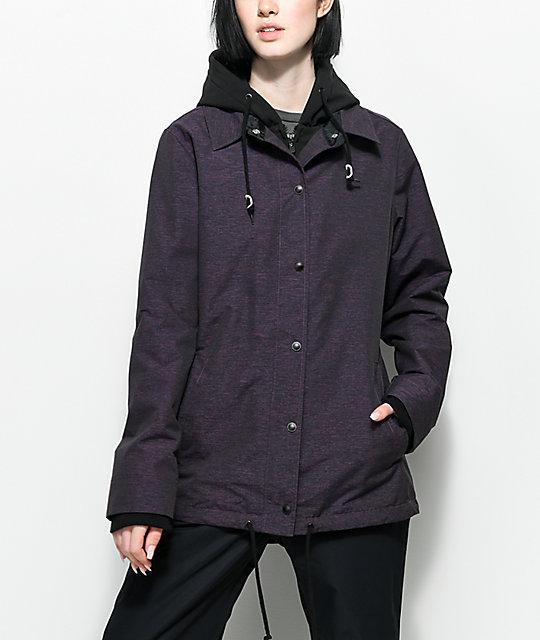 snowboarding jacket empyre school yard purple 10k snowboard jacket ... dzzyuhn
