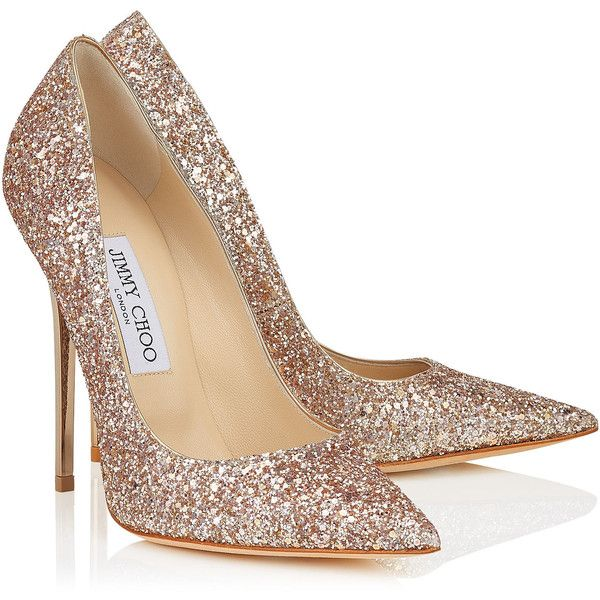 sparkly heels nude shadow coarse glitter fabric pointy toe pumps (1.850 brl) ❤ liked on abgblrx