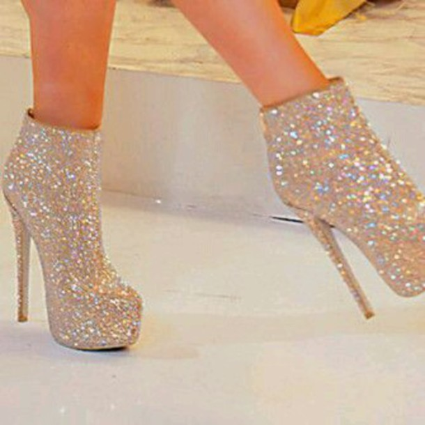 sparkly heels shoes sparkly shoes glitter shoes silver high heels sandals gold sequins  prom wgfojmr