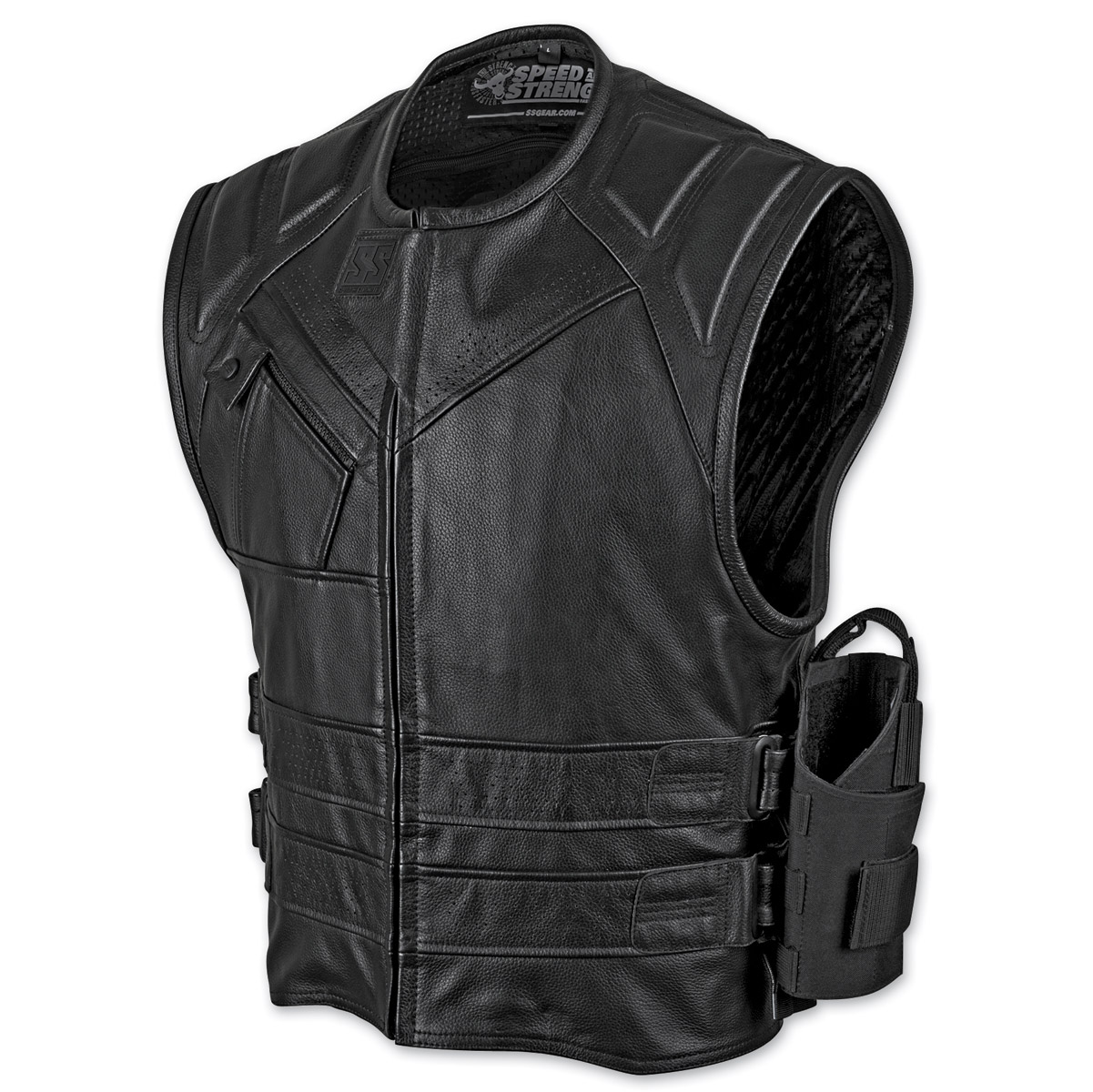 speed and strength menu0027s the quick and the dead black leather vest ... keargte