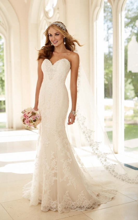 strapless wedding dresses 6220 fit-and-flare strapless wedding dress by stella york egoqqte