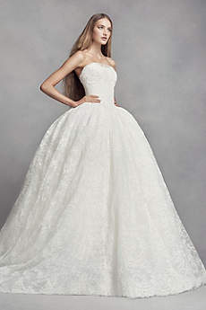 strapless wedding dresses long ballgown modern chic wedding dress - white by vera wang qavjxoz