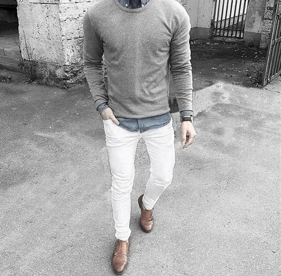 styles what to wear with mens white jeans