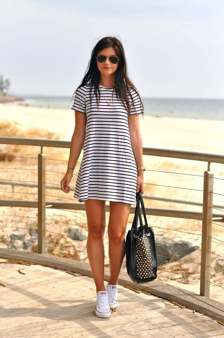 summer outfits how to wear sneakers with a dress uqtkbek