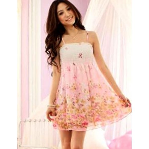 sun dresses pink butterfly printing cute cheap chiffon sundress · cheap  sundressessundresses ... mcoamsz