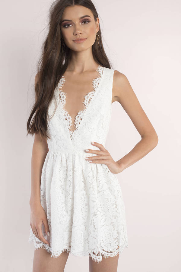 sun dresses sundresses, ivory, lauren scallop skater dress, ... hvthxrr