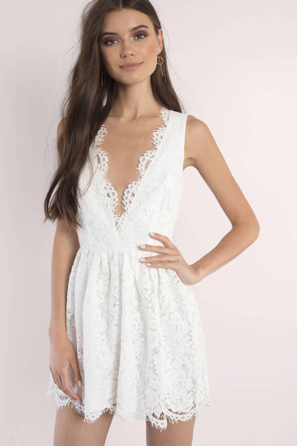 sun dresses sundresses, ivory, lauren scallop skater dress, ... hvthxrr