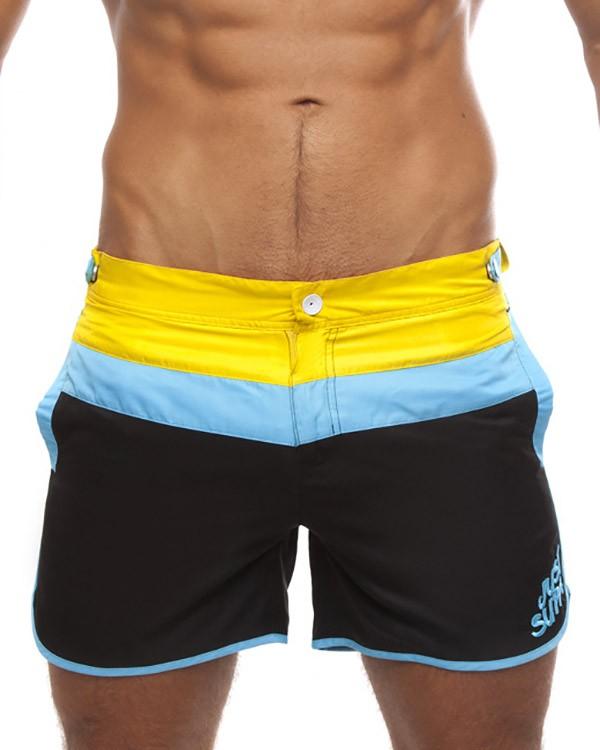 swim shorts supawear - just supa swimshorts - black/yellow by supawear cnjiabb