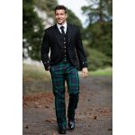The right kind of golf trousers: tartan trousers