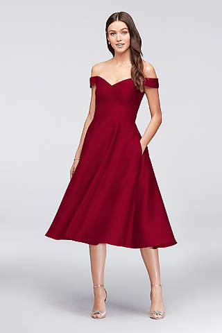 tea length dresses tea length a-line off the