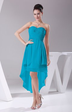 teal bridesmaid dresses teal informal a-line sweetheart chiffon ruching bridesmaid dresses eadijig