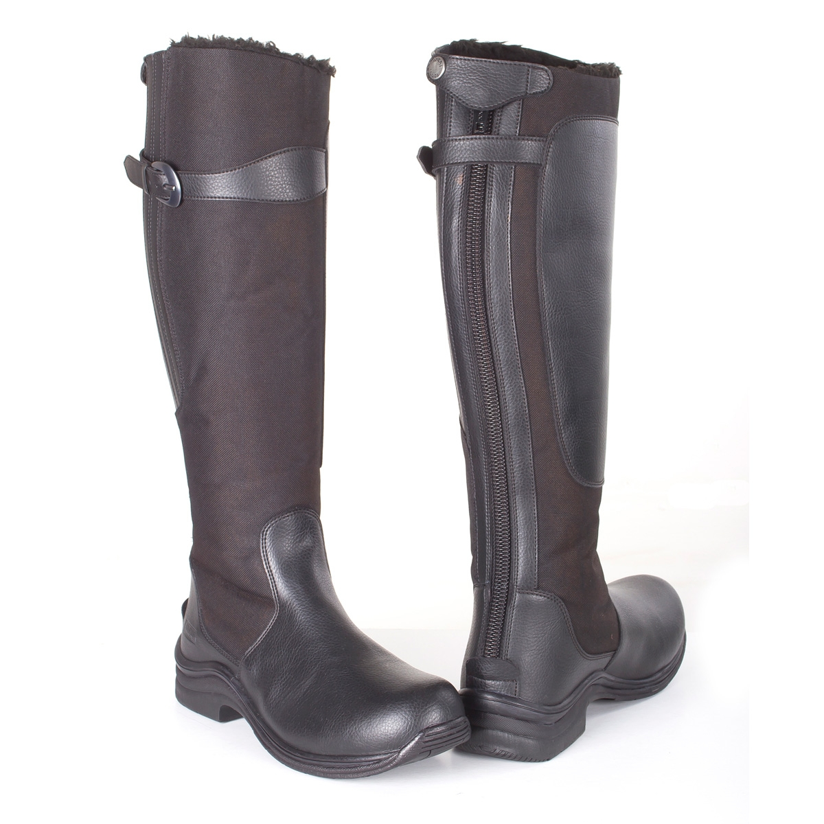 toggi boots image of toggi chinook fleece lined riding boots (womens) - black ... mmazjdp