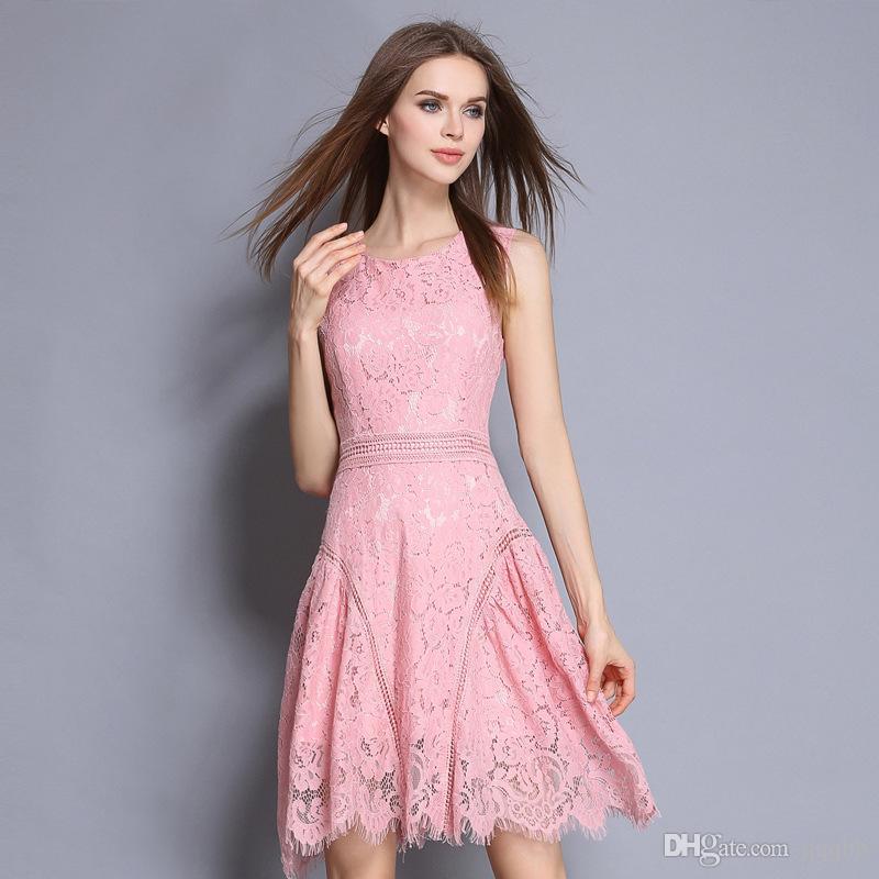 trendy dresses summer dresses for women 2017 trendy mini party dresses pink sleeveless  ladies uxffivv