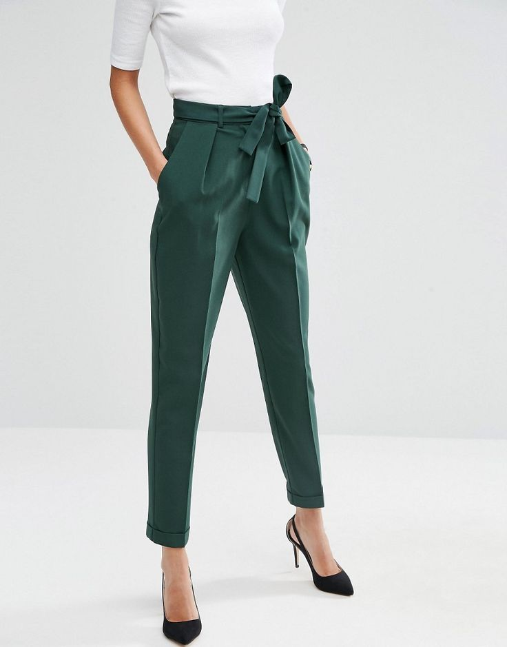 trousers for women image 4 of asos woven peg pants with obi tie. business wear for bksghxx