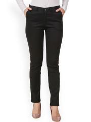 trousers for women purple feather women black slim fit formal trousers vpbcrgs