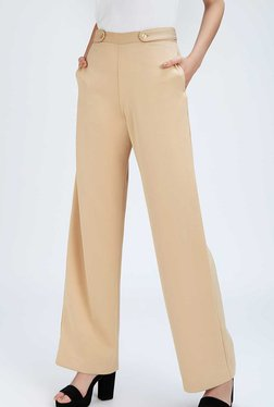 trousers for women thelabellife beige regular fit trouser dqhtkhj