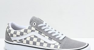 van shoes vans old skool pro grey checker u0026 white skate shoes sskqolq