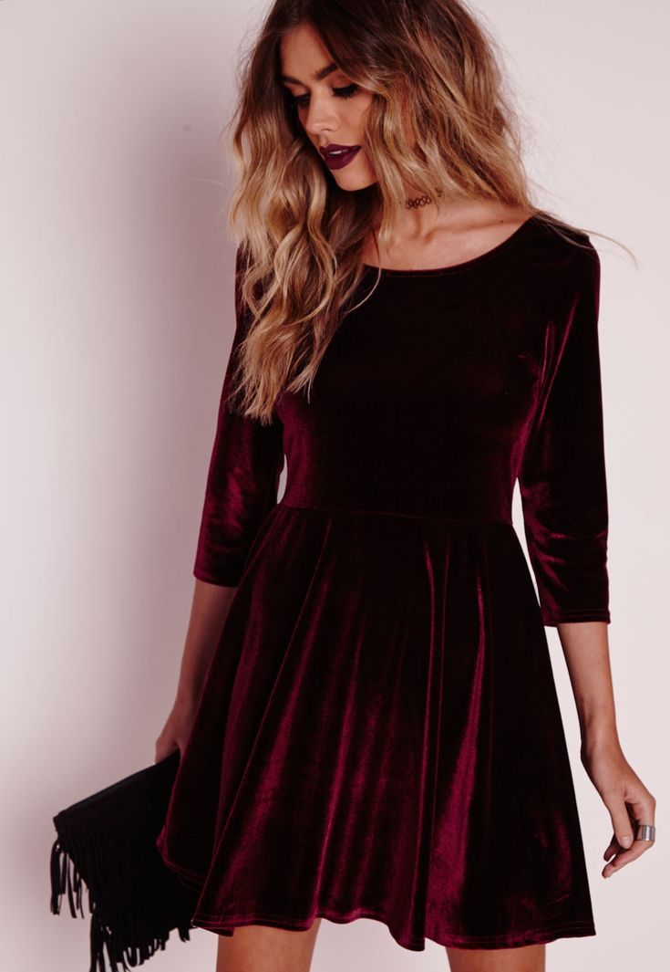 velvet dress we canu0027t wait to get our hands on this show stopping velvet skater ogzufgc