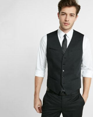 vest for men black cotton suit vest | express qirfxlo