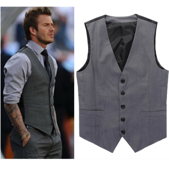 vest for men grey slim fit dress vests for men david beckham formal mens suit vests uhhbysl
