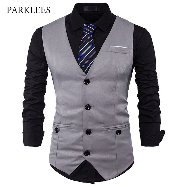 vest for men men suit vest classic v collar dress slim fit wedding waistcoat mens formal otsavhf