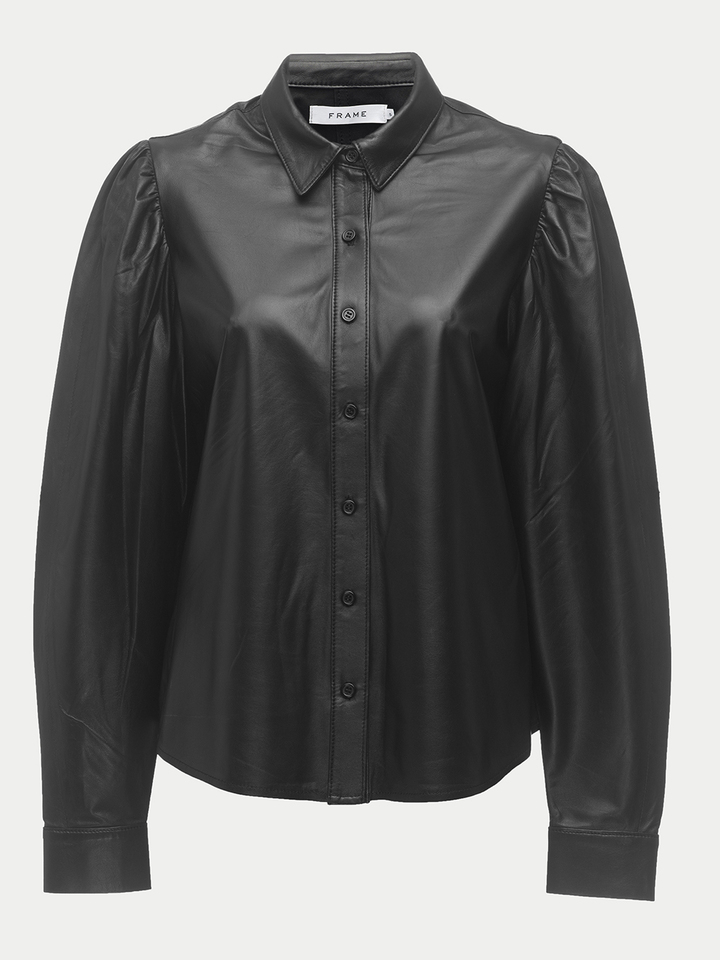 voluminous leather shirt wyxtwsl