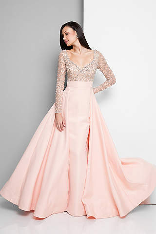 wedding party dresses long ballgown long sleeves formal dresses dress - terani couture fxgjrrt