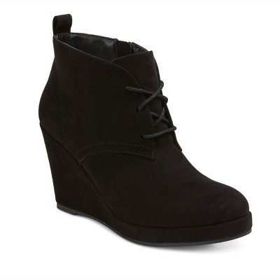 wedge boots womenu0027s dv terri wide width lace up wedge booties : target phuxmyf