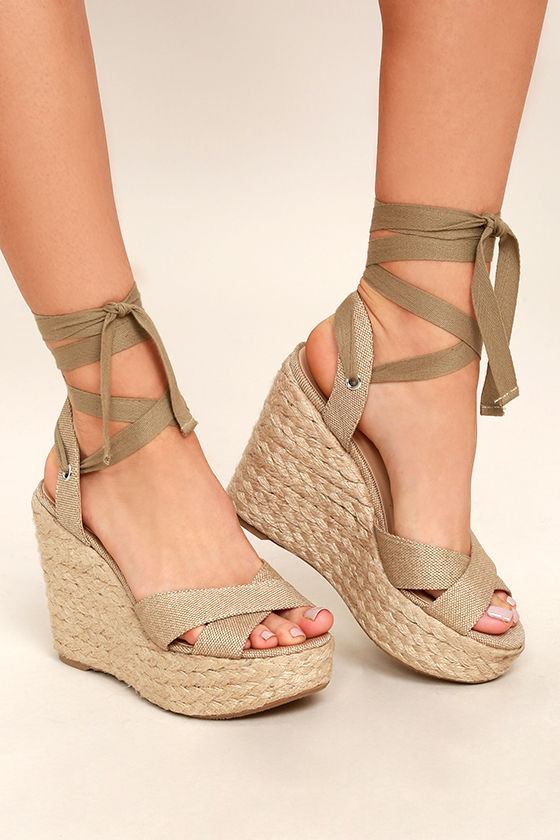 wedges shoes esme natural lace-up espadrille wedges 1 yjviesu