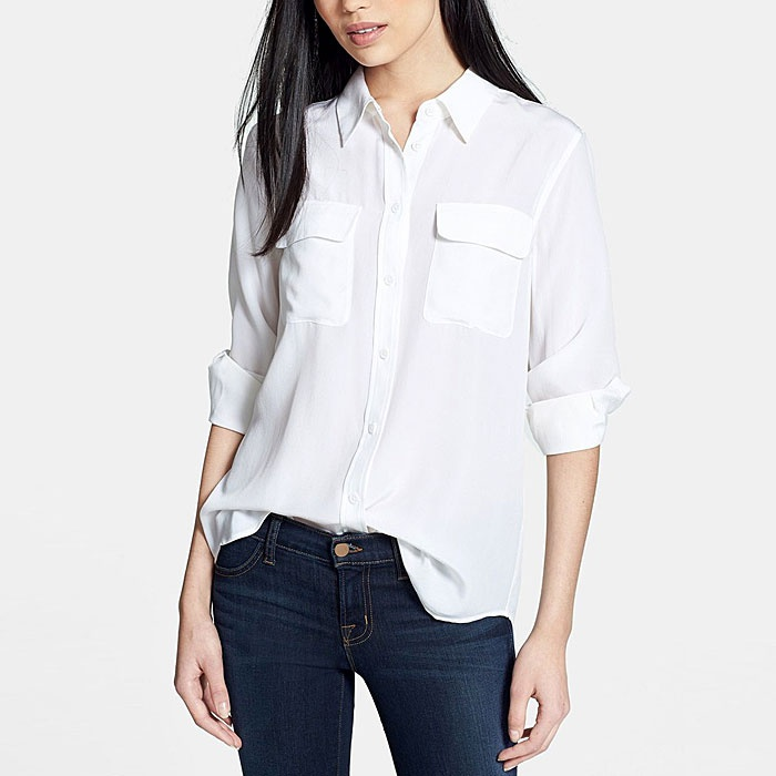 white blouse best white button down shirts - equipment slim signature blouse xjkwvzr
