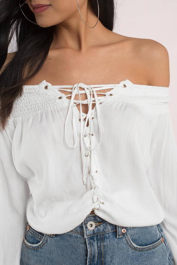 white blouse kelli white lace up blouse kelli white lace up blouse ... yiqqgmj