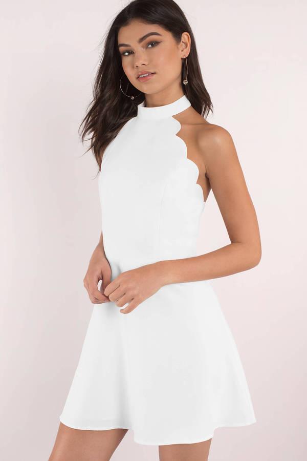 white dress gilda red skater dress ... foepygd