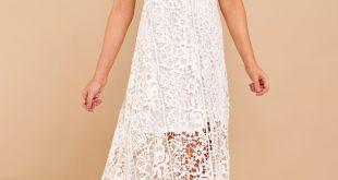 white lace maxi dress stunning white dress - white maxi dress - lace maxi - $82.00 wslhlxk