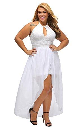 white plus size dresses lalagen womenu0027s plus size halter white lace wedding party dress maxi dress gvmcdfm