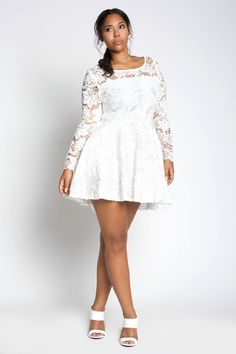 White plus size dresses- look chic and classy ...