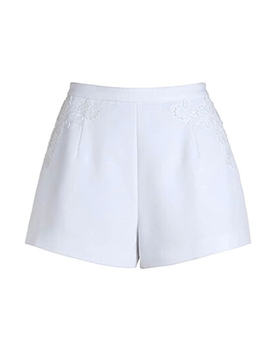 white shorts white high waist shorts with embriodery sh0160015-2 xqwesfs