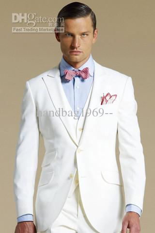 white suits for men two buttons groom tuxedos white menu0027s wedding suits best man suit  jacket+pants+tie+vest exvgrqp