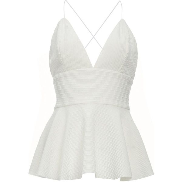 white tops jonesy felicity peplum top (u20ac55) ❤ liked on polyvore  featuring oxaidqd
