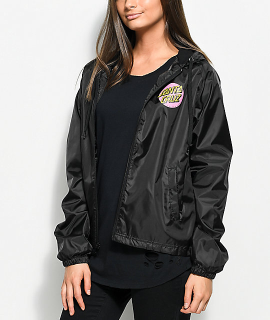 windbreaker jackets santa cruz other dot black windbreaker jacket ... iaubavn