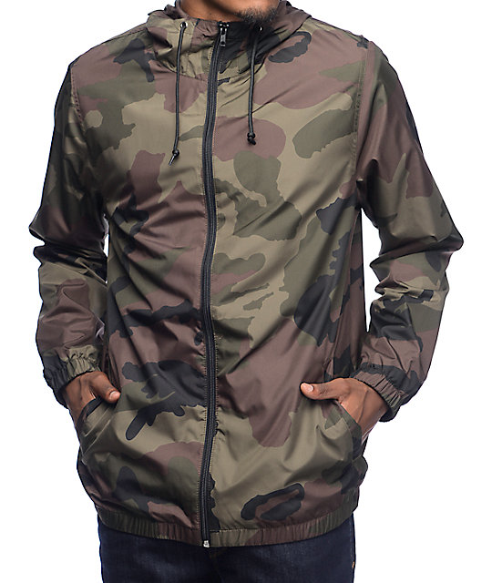 windbreaker jackets zine training camo lined windbreaker jacket ... fvjflkh