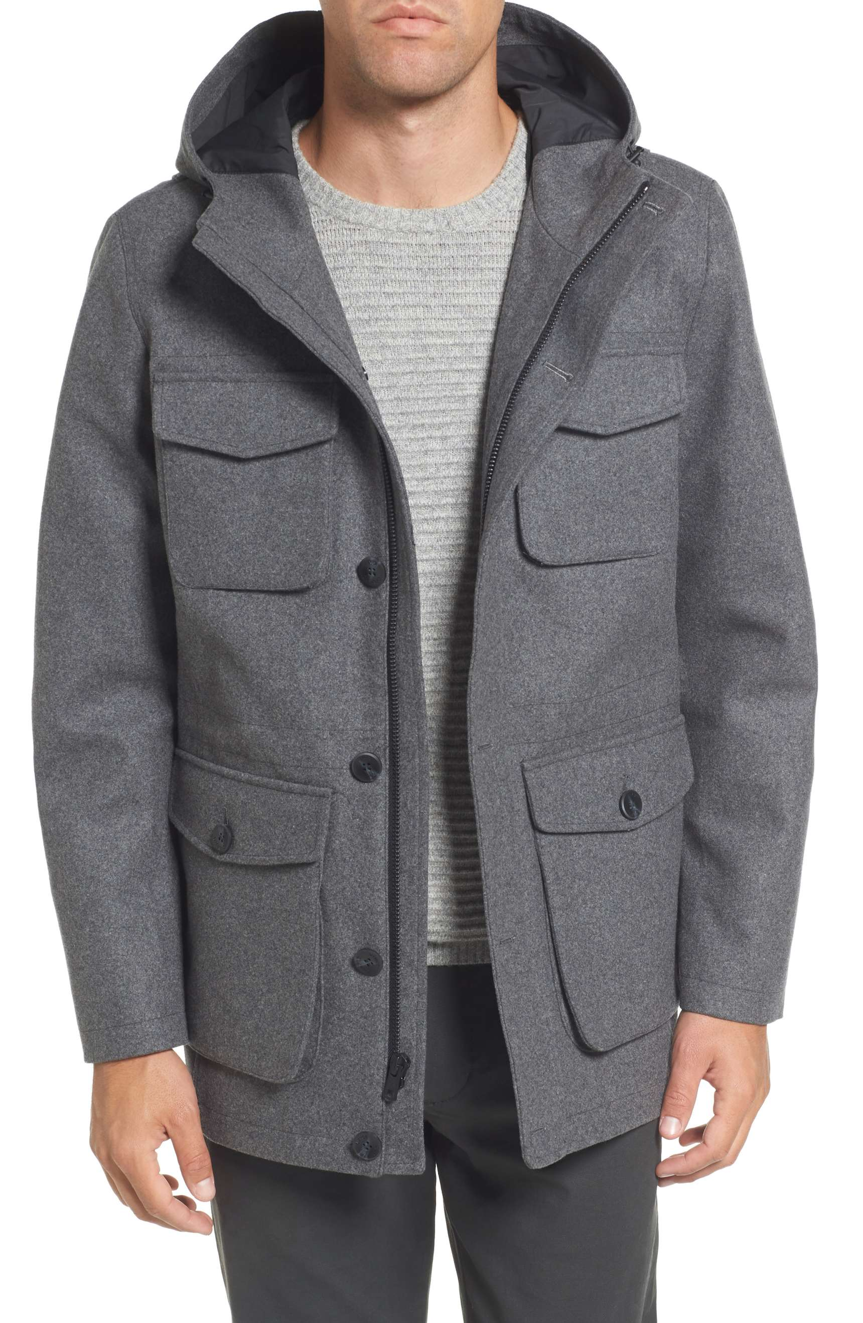 winter coats for men best mens winter coats 2018: vince camuto hooded jacket xmeljol