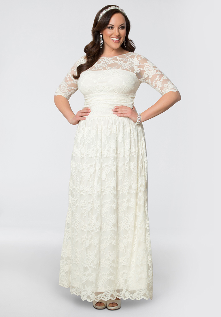 winter wedding dresses lace illusion plus size wedding gown posbeum