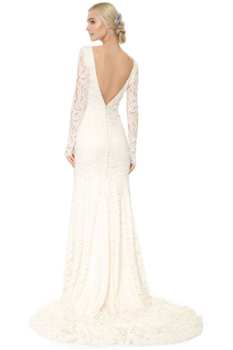 winter wedding dresses theia nicole lace gown dpkbqru