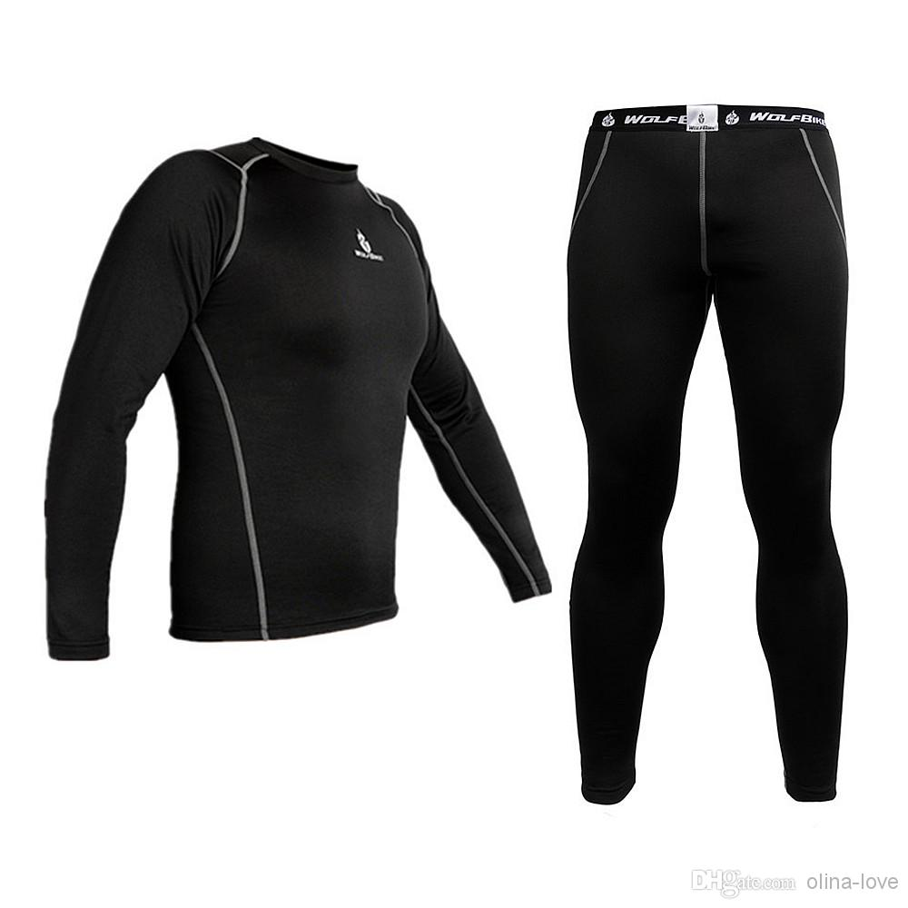 wolfbike mens women winter sports clothes thermal fleece base layer under  wear wsujfaf