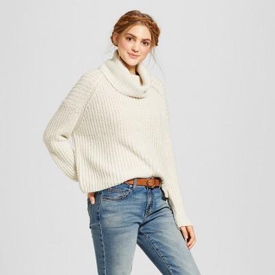womenu0027s cropped turtleneck sweater - mossimo supply co™ wrhbrnj