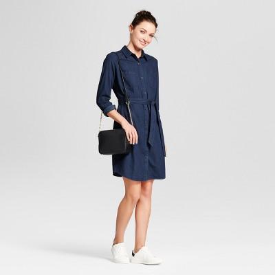 womenu0027s denim shirt dress - a new day™ rfhzjdo